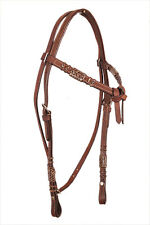 Western Natural  Brown Rawhide Braiding Futurity Style Head Stall