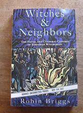 WITCHES AND NEIGHBORS by Robin Briggs -1st ARC proof copy - satanism occult