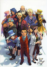 "Phoenix Wright Ace Attorney Dual Destinies Fabric Art Cloth Poster 20x13"" Decor8"
