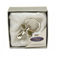 New Baby Christening Gift Silver Plated Dummy Keepsake Gift Boxed by Juliana