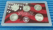 2002 S United States Mint 50 States Quarters Silver Proof Coin Set