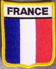 Embroidered International Patch National Flag of France NEW bunting