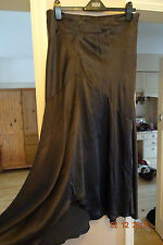 TOPSHOP DARK GREY SILK MAXI SKIRT RRP £75 BNWT