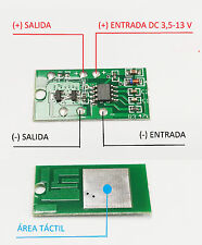 CONTROL TACTIL ON OFF REGULABLE DC 3.3 - 15 V TOUCH CONTROL DIMMER ARDUINO RASPB