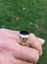 Vintage Tiffany&Co. Men 14K Yellow Gold  Signed Ring With Black Onyx