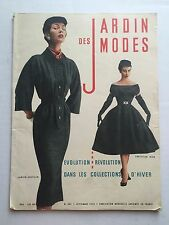 September 1953 French Fashion Magazine Jardin des Modes Lots of Great 50s Fashio