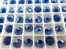 6 Royal Blue Unfoiled Swarovski Crystal Chaton Stone 1088 39ss 8mm