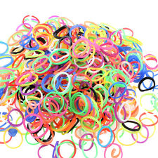"DIY Rubber Band Colorful Silicone LOOM BANDS Kit - 600PCS Bands & 25 ""S"" Cl"