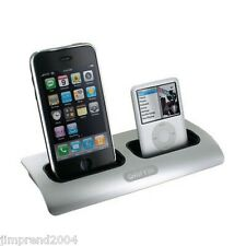 PowerDock Dual-Position Charging Station By Griffin for iPod and iPhone (Silver)