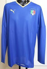 ITALIA Home Player Issue FOOTBALL JERSEY L / S BY PUMA Adulti Taglia XL Nuovo di Zecca