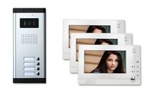 Three 3 Units Apartment Building Color Video Intercom 100 Visitor Photo Memory