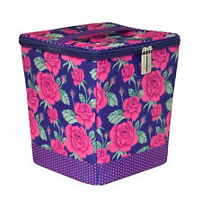 Everything Mary  EVM9680-3 Rose Print Snap-Pocket Knitting Organiser 23x23x25½cm