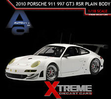 AUTOART 81073 1:18 2010 WHITE PORSCHE 911 997 GT3 RSR PLAIN BODY DIECAST CAR