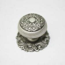Antique Pewter Metal 30mm Knob Wardrobe Cabinet Drawer Pulls Handle KSE577