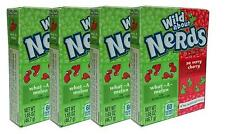 4 x Wonka Wild About What A Melon And So Very Cherry Nerds 46.7g American Sweets
