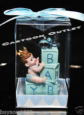 1 PC BABY SHOWER PARTY FAVORS FIGURINE BLUE BLOCKS RESIN BIRTHDAY CAKE TOPPER