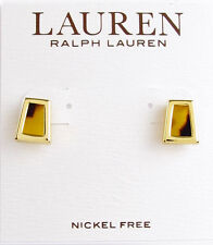 NEW LAUREN Ralph Lauren Tortoise Resin Gold-Tone Stud Earrings $32