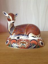 ROYAL CROWN DERBY 'DEER' Paperweight, c1994 Excellent Co