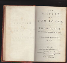 THE HISTORY OF TOM JONES, A FOUNDING. By Henry Fielding. 1780, 4 Volumes, RARE.