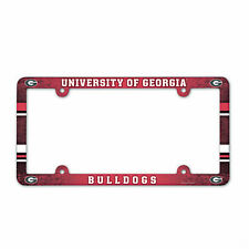 GEORGIA BULLDOGS COLOR CAR AUTO PLASTIC LICENSE PLATE TAG FRAME