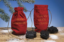 Christmas Santa's Gift Bag of Coal Lumps Decor Holiday Gag Gift Funny Joke
