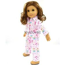 "Handmade Pajamas PJS Clothes for 18"" AG American Girl Our Generation Doll"