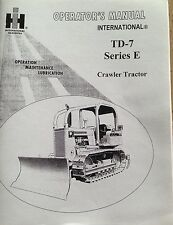 Dresser TD7E Operator Maintenance Manual International IH crawler dozer