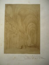 PHOTO ANCIENNE CATHEDRALE DE CHARTRES INTERIEUR 1870  BISSON FRERES