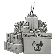 Indiana University of Pennsylvania - Pewter Gift Package Ornament