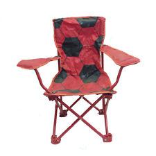 Silla resellable compacto cómoda de viaje/acampada rojo con bola impresión