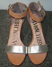 Sam & Libby Shae Fashion Bohoi Open Toe Ankle Straps Heels Sandals Wedges 6 NEW
