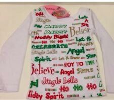New Haven Girl Havengirl White Ribbed Boutique Xmas Holiday LS Shirt 3T 3