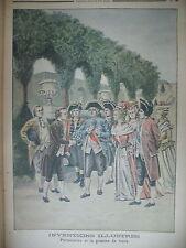 INVENTIONS PARMENTIER POMME DE TERRE ASSASSINAT A NAPLES LE PETIT JOURNAL 1901