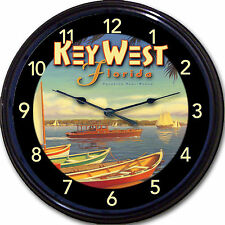 Key West Florida Buffett Margaritaville Poster Wall Clock Beach Hemingway 10""