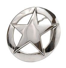 High Polish Nickel Deputy Ranger Star Badge Belt Buckle