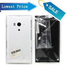 White Full Housing Battery Cap Back Cover + Frame For Sony Xperia acro S LT26w