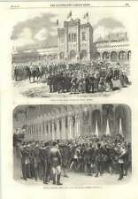 1866 King Leopold Arriving At Tir National Brussels Volunteers Taking Wine