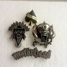 Lemmy, Motorhead Pin Badges, Rock, Heavy Metal, Biker, Hells Angels, Alchemy etc