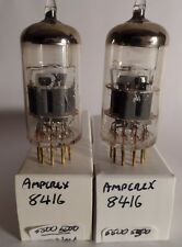 Matched Pair Strong Amperex 8416 = (12 VOLT 6922 E88CC * RARE SIM TO 12AX7 7025)