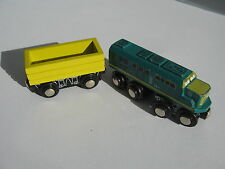 TRAIN ENGINE & CARGO CARRIAGES for Wooden Train Track Set (Brio Thomas)