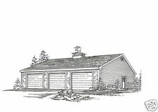 36 x 36 - 3 to 6 Car Garage Building Plans Blueprints