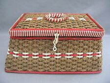 A genuine 1950s Sewing Basket in Woven Ware - true Vintage