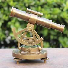 Antique Brass Theodolite Alidade Compass Maritime Nautical Survey Alidade Decor