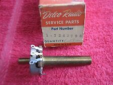 DELCO RADIO 1946 CADILLAC MODEL 7253207 RADIO CONTROL, PART# 7242296 , NOS