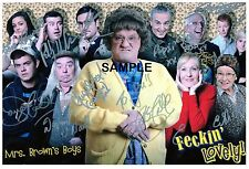 Mrs Browns Boys Cast Signed Print. Printed on A4 260gsm Quality Photo Card