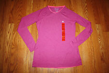 NWT Womens CHAMPION Active Pink Striped Long Sleeve Shirt Top Size XL X-Large