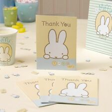 Thank You Cards & envelopes x10 - BABY MIFFY Birthday/Baby shower/Christening