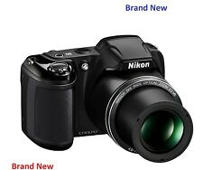 Brand New Nikon Coolpix L340 20MP 28x Zoom Bridge Camera - Black