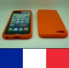 Housse silicone Orange pour iphone 5, 5S,SE etui protection, coque silicon case