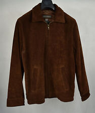 Banana Republic Jacket Bomber Dark Brown Suede Coat S Mens
